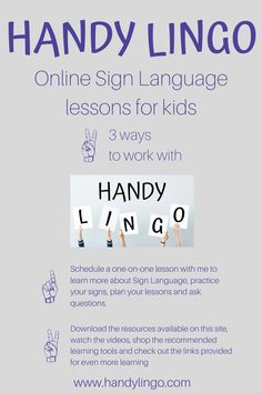 Online Sign Language lessons for kids with Handy Lingo. Online Income, Earn Money Online, Midlife Career Change, Sign Language For Kids, Language Lessons, Positive Living, Be Your Own Boss, Lessons For Kids