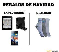 navidad. Christmas gitfs. expectations and the reality. hahaha