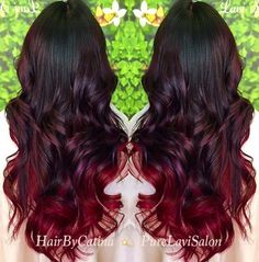 Brunette-Ombre Deap Red