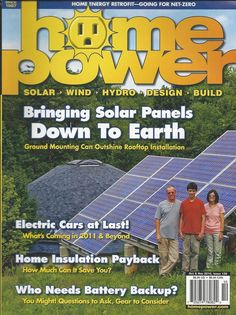Home Power magazine Solar panels Electric cars Insulation Battery gear backup