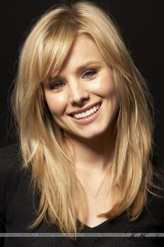 Long layers with side bangs. This is what my hair needs to look like,