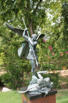 St Michael and Lucifer - Umlauf Sculpture Garden, Austin, Tx.