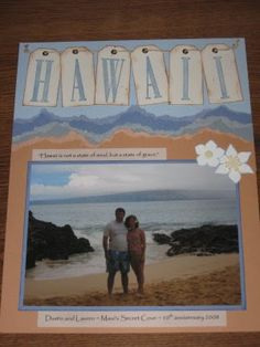 Hawaii Scrapbook Page