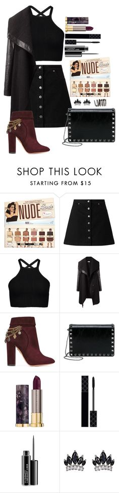 """Untitled #1682"" by fabianarveloc on Polyvore featuring Miss Selfridge, Helmut Lang, Aquazzura, Valentino, Urban Decay, Gucci, MAC Cosmetics and Fallon"