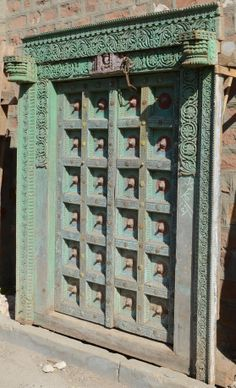 Wer glaubt, dass die Tür zum Paradies grün sein sollte – bitte hier! #Green #Vintage #door.