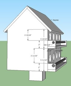 free printable birdhouse plans | level, 8-room free purple martin
