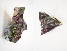 "4. Stained Glass Wood, polyurethane foam, plexi glass, and steel. 10"" x 9"" x 3"", 2011."
