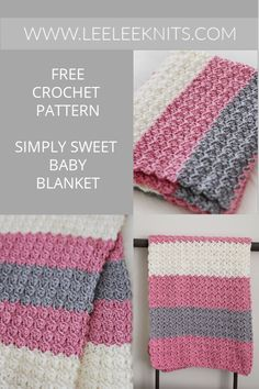 Simply Sweet Crochet Baby Blanket Pattern