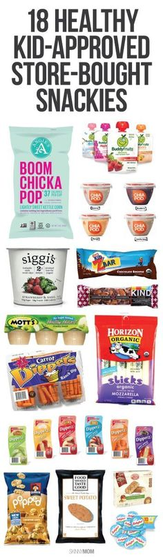 18 store-bought snacks we know your kids will love. Healthy too!