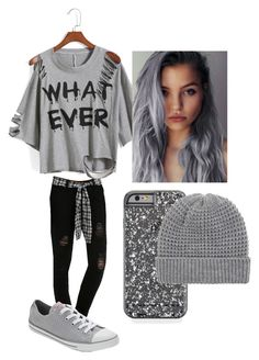 Untitled #121 by h-akther on Polyvore featuring Converse