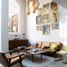 Mid-century Interior | I recognize the Vladimir Tretchikoff,  Lou Shabner, and  J.H. Lynch prints!  Via