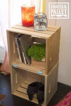 1. Build a Night Stand from apple crates