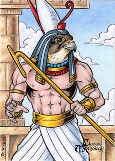 Horus - Classic Mythology by tonyperna.deviantart.com on @deviantART