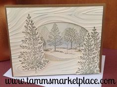 gilded winter card | Trees, A tree and Handmade cards on Pinterest