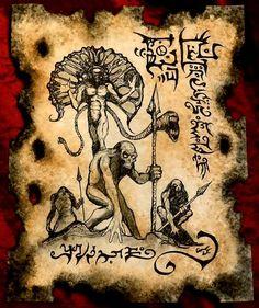 SERVANTS of KAA AMOG cthulhu larp Necronomicon Fragment by zarono