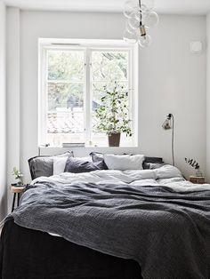 Cozy bedroom /bedroom/ cozy bedroom, cosy bedroom, bed again Cosy Bedroom, Home Decor Bedroom, Linen Bedroom, Bedroom Bed, Bedroom Inspo, Dream Bedroom, Grey Sheets, Ideas Prácticas, Decor Ideas