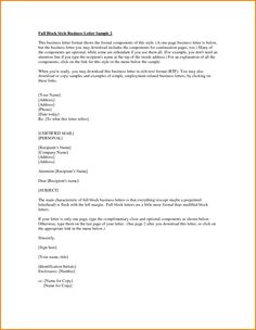 Examples Block Style Business Letters Expense Report Template