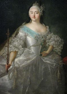 Elizabeth of Russia by anonymous, Caravaque type (18th c.,GIM) detail.