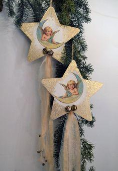 Jeanne d/'Arc Living 7 x Motiv Winter Frau Weihnacht Bastelbogen Nostalgie X-Mas