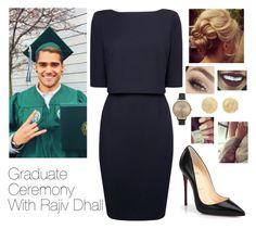 """Graduate Ceremony With Rajiv Dhall"" by boiteasecrets ❤ liked on Polyvore featuring L.K.Bennett, Christian Louboutin, Olivia Burton, Carolina Bucci, Joma, women's clothing, women's fashion, women, female and woman"