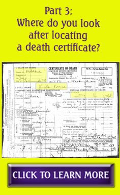 Part 3: Where do you look after locating a death certificate? #genealogy