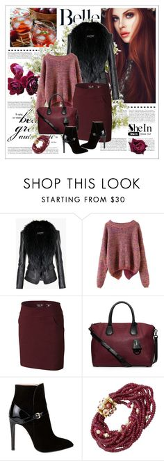 """""""Long Sleeve Purple Sweater"""" by narcisaaa ❤ liked on Polyvore featuring Balmain, Mountain Hardwear, MICHAEL Michael Kors, Emilio Pucci, Trianon, New Growth Designs, Sheinside and shein"""