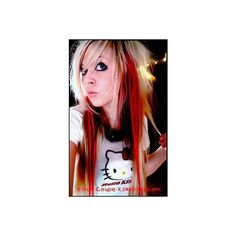 100%emo - Photo 14 : Album photo - TeeMix.com ❤ liked on Polyvore featuring hair, girls, people, emo girls and red hair
