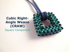 Square Cubic Right-Angle Weave (CRAW) Component - YouTube