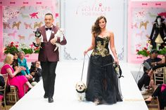 Pictures - Dogs and humans gussied up to strut down the runway and ...