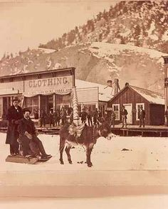 Donkey Sledding ~ Not what I have happening in Mail-Order Misfire, but the town is similar to my fictional Lockton, CO