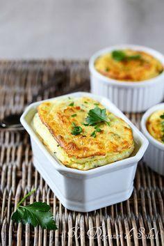 Soufflé de pommes de terre au fromage et aux herbes