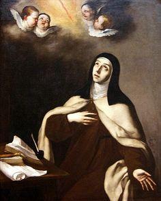 Santa Teresa - José de Ribera  #TeresadeÁvila