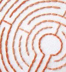 Embroidery Patterns of labyrinths. Meditate while doing