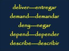 CLASES DE INGLES BASICO #41. VERBOS INGLES 1