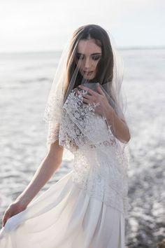 edged bridal veil