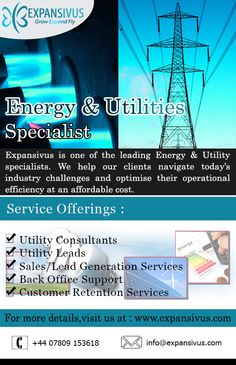 Improve your competitiveness with industry #specialist - Expansivus.. For More details please visit here: - www.expansivus.com/energy-and-utilities-services.html or call us: - +44 (0)7809 153618.. Energy Services, Lead Generation, Improve Yourself, Challenges