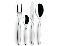 Guzzini Feeling 24 Piece Cutlery Set, White - Will allow us to entertain more than four people at a time. So stylish too.