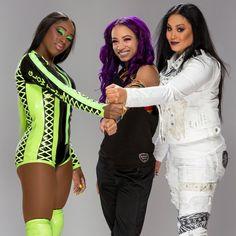 Naomi, Sasha Banks & Tamina formely known as Team Bad Divas Wwe, Wwe Divas Paige, Paige Wwe, Wrestling Divas, Women's Wrestling, Naomi Wwe, Hottest Wwe Divas, Wwe Outfits, Tamina Snuka