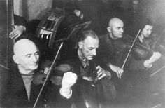 Kovno, Lithuania. The ghetto orchestra. Kovno was liberated on 1/8/44. Listen to #music written in the Kovno Ghetto - the authors are unknown