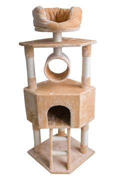 Merax 57-Inch Cat Tree, Beige -- Awesome product. Click the image (This is an amazon affiliate link. I may earn commission from it)