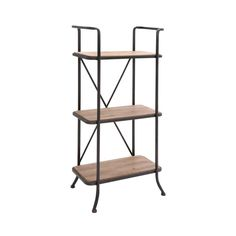 Your shelving gets a makeover with this open-constructed, wood and metal unit. Three shelves give you space to organize your favorite books and baubles with an open, industrial-inspired display.  Find the Braden Shelving Unit, as seen in the Industrial Chic Collection at http://dotandbo.com/collections/industrial-chic?utm_source=pinterest