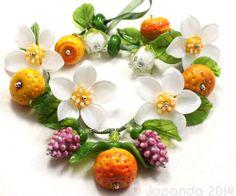 Jopanda Lampwork Beads Handmade SRA Orange Blossom Bouquet   eBay
