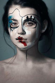 editorial, avant garde make up