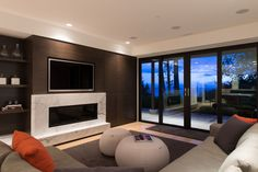 Burkehill Residence by Craig Chevalier and Raven Inside Interior Design Modern Entrance, Entrance Design, Contemporary Bathrooms, Contemporary Interior, House Worth, Home Theater Furniture, Village House Design, Canada, House Layouts