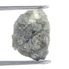 Antique 1.74 TCW Irregular Natural Silver Gray Color Rough Diamond For Jewellery