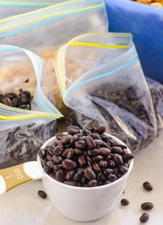 How to Cook Dried Beans & Store Them for Later - Save triple by cooking and freezing your own versus buying organic BPA free canned beans.   ifoodreal.com