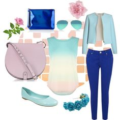 Blue Blue And Blue by laileeya on Polyvore