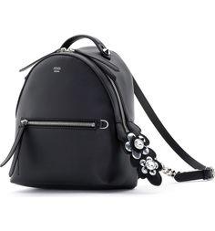 9f3520fa5c Fendi Mini Crystal Embellished Croc Tail Backpack