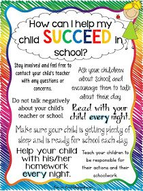 Tips for Parents...How to Help My Child Succeed