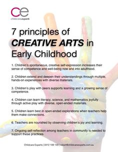 7 Principles of creative arts Primary Education, Early Education, Early Childhood Education, Preschool Director, Emergent Curriculum, Learning Stories, Reflective Practice, Effective Teaching, Teaching Activities